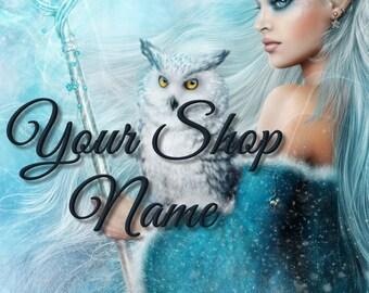 Fantasy Banner Set, Shop Banner, Digital Graphics, , Custom Banner, Banner Design, Graphic DesignCover Photo, Premade Banner