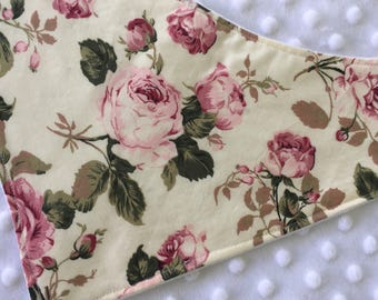 Bandana Bib Vintage Roses