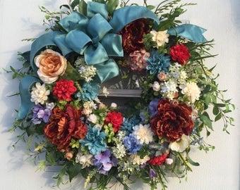 Front Door Wreaths, Flower Wreath, Grapevine Wreath,Flowering Wreaths, Door Wreaths, Wreaths, Greenery Wreaths, Front Porch Wreaths