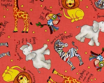 Think Positive Animals/Kinder Nap Mat/Preschool Nap Mat/ Sleep Sack