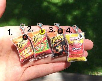 Handmade Mini Hot Chip Bag charms!