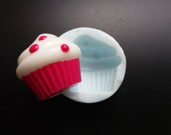 Polymer clay and resin mold silicone rubber For Cupcake!