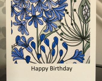 Agapanthus Greetings Card