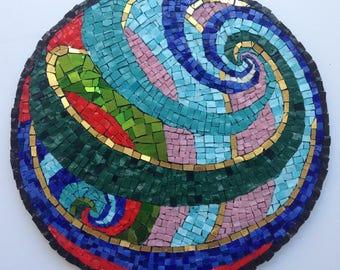 Mosaic Art, Colorful, Wall hanging, Smalti mosaic, Handmade item, Home Decoration, Gift Idea