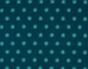 Cotton +Steel Sea Urchin Deep Fabric, Fat Quarter, Quilting Fabric, Teal Fabric, Geometric Fabric, Cotton Fabric, Rashida Coleman-Hale