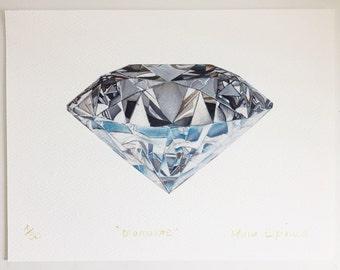 Diamante impresión