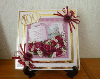 Beautiful Book Decoupage Card And Box