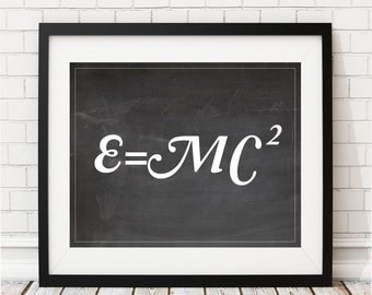 Physics Art Print - Einstein poster, Science Gift, Physics Gifts, Physics Art, Physics Poster, Science Poster, Science Art, Nerd Gifts, Math