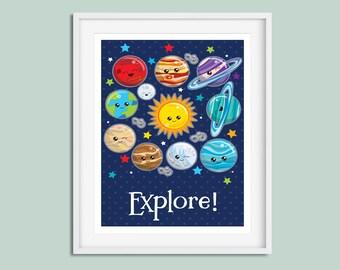 Space Nursery, Nursery Wall Art, Space Print, Nursery Print, Space Wall Art, Boys Nursery Wall Art, Boys Nursery, Space Nursery Art, Prints