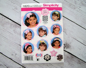 Simplicity Sewing Pattern 1820 Flower Hair Accessories