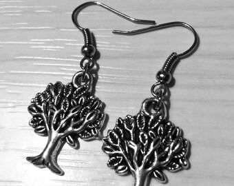 Tree of life earrings, Tree of Life earrings, steel and bronze