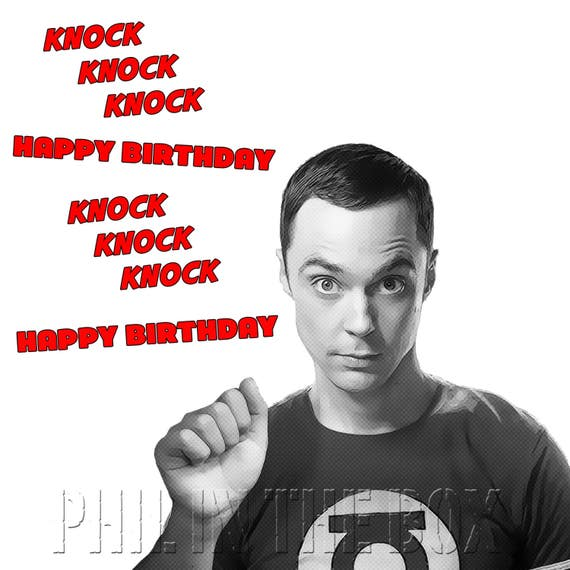 Big Bang Theory birthday Card Sheldon Cooper birthday card – Big Bang Theory Birthday Card