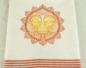 Embroidered Cotton Tea Towel