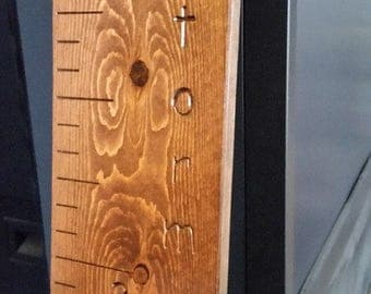 Pine Carved Growth Chart