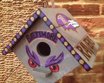 Hand painted Raven's birdhouse