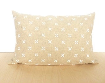 JASMINE PILLOW COVER >> 11x17 | screenprinted | flower pattern | throw pillow | home decor