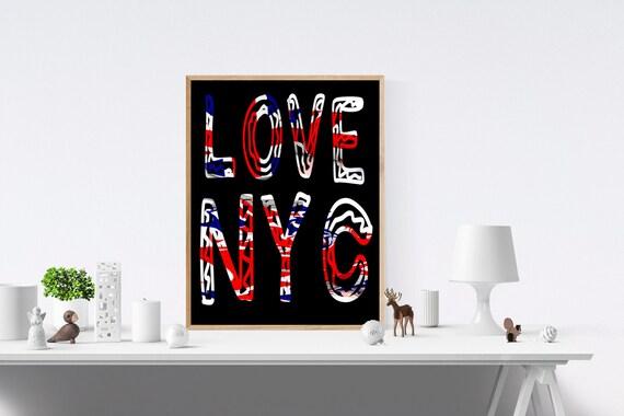 New York City, Love Sign, Love Signs, Love Print, Love Prints, Art Print, Art Prints, Wall Prints, Wall Art, Digital, Prints, Print Wall Art