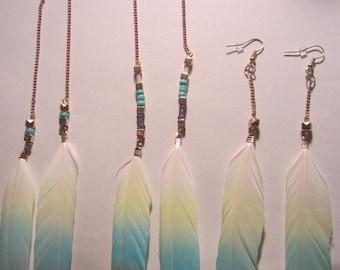 Feather Dangle Earings