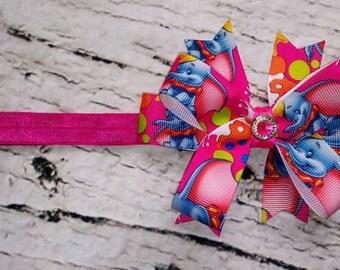 Dumbo Headband/Dumbo/Dumbo Bow Headband/Infant Headband/Toddler Headband/Character Headband/Disney Headband/Elephant Headband