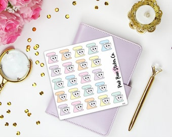 Stand Mixer Baking Kawaii Planner Stickers [K35]