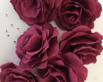 Premium crepe paper flowers