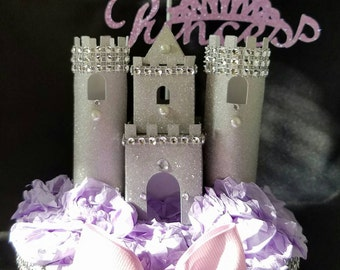 Little Princess/Castle/Centerpiece/Cake Topper/Baby Shower/Birthday