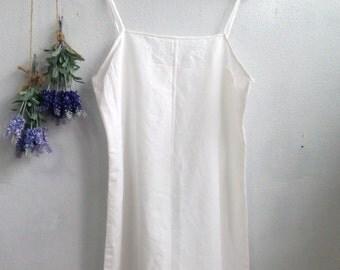 Linen Slip Dress / Women Midi Slip Dress, Bride Slip Dress, Ivory Slip Dress