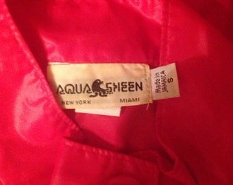 Aqua sheen rain coat small