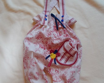 Made in France. Baby girl overalls   'Revolution'. Unique piece