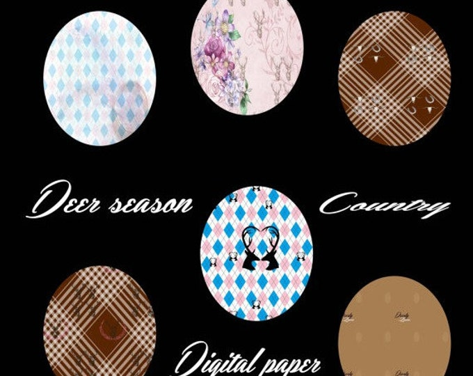 HUGE SALE EVENT 30%off Digital paper, digital country paper, country paper, digital backgrounds, scrapbook paper, deer paper, vintage pap...