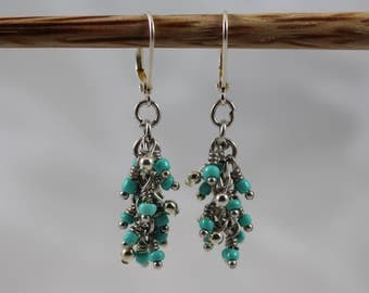 Bayside (Light Blue, Silver) earrings