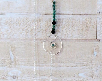 Aawa silver turquoise necklace