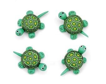 Fimo Clay Turtles, 4 Turtles