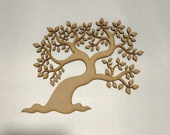 laser cut tree 3mm MDF X 5