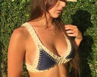 Navy Blue bikini + NUDE