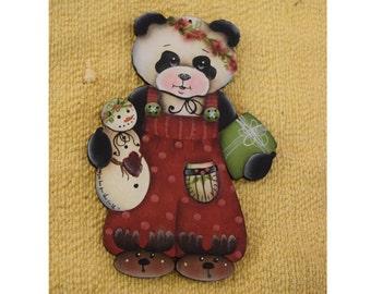 Panda Ornament - Jamie Mills-Price Design Handpainted by Tammy Roberds - Christmas