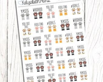 Motivator Cats | Motivational, Achievement, Goals, Planner Stickers