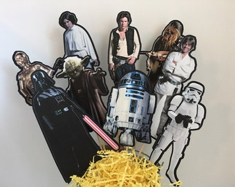 Star Wars Set of 9 Centerpiece Picks (DOUBLE-SIDED)