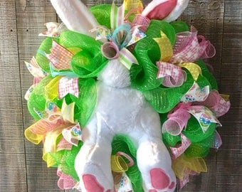 On Sale!! Easter wreath,Easter wreaths for front door,Easter wreath bunny