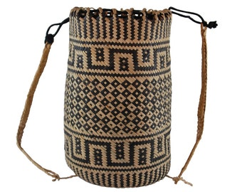 Traditional Borneo Rattan Ajat Backpack Bag Beach Bag