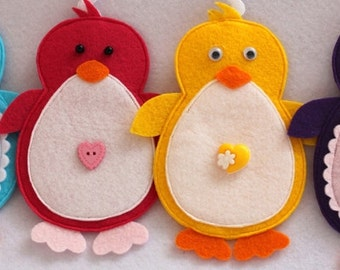 Christmas ornament felt penguin home decor nursery party supplies Baby gift idea for kids GIFT for graduation Baby shower Housewarming