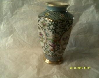Hand Painted Ardalt Lenwile Gilded Rooster Vase