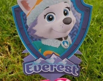 Everest Pawpatrol centerpiece, Pawpatrol candy table decorations, Pawpatrol centerpiece
