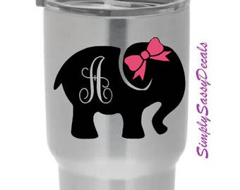 Personalized Initial Elephant