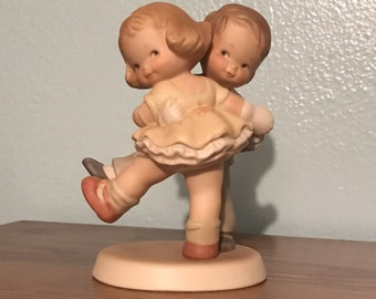 """Enesco Memories Of Yesterday """"We's Happy! How's Yourself?"""" Porcelain Figurine"""