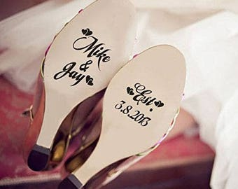 Personalised Wedding Shoes Stickers/Decals