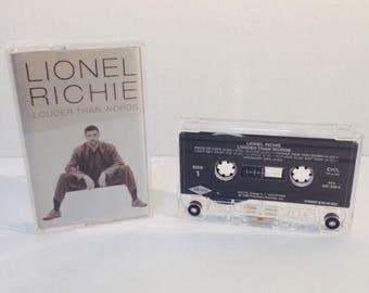 Vintage Lionel Richie ' Louder Than Words' Cassette Tape, 1996