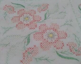Vintage Cross Stitch Square Quilt