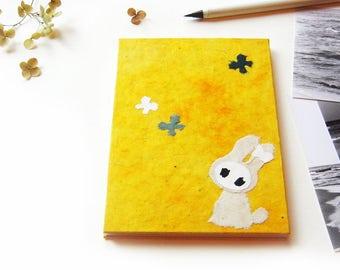 """Accordion Photo Album """"Bunny"""" yellow"""