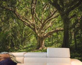Forest Mural | Adhesive wall mural | adhesive wallpaper | removable wallpaper | removable wall mural | wallpaper mural